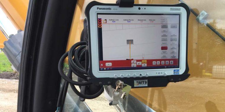 GPS System im Bagger