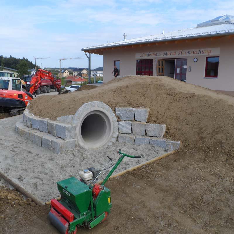 Neue Aussenanlage für den Kindergarten.